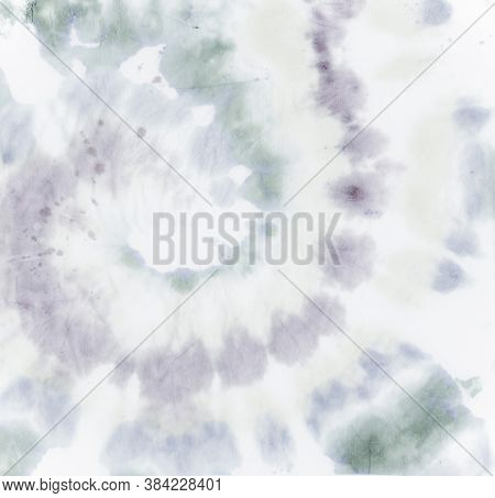Tie Dye Background. Gray Artistic Shirt. Light Psychedelic Backdrop. Tie Die Art Painting. Abstract