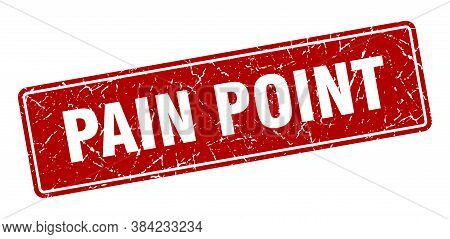 Pain Point Stamp. Pain Point Vintage Red Label. Sign
