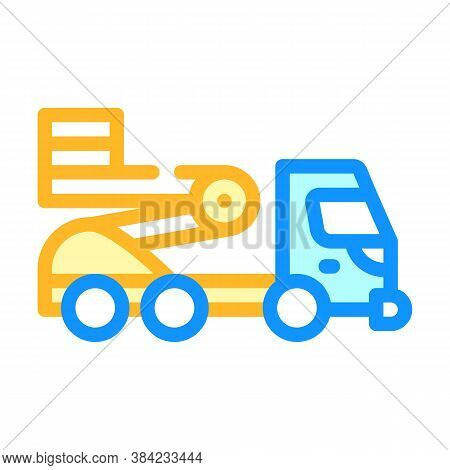 Cherry Picker Color Icon Vector Isolated Illustration