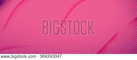 Color Flow Wave. Pink Dynamic Movement. Abstract Fluid Shapes. Minimal Poster.  Color Flow Wave. Vec