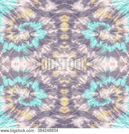 Dye Background. Multicolored Brush. Tie Dye Seamless Pattern. Bright Tie Dye Shirt. Watercolor Moder