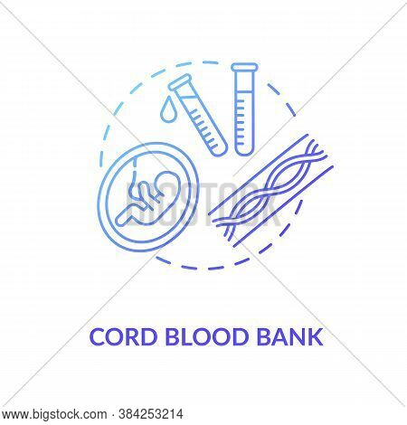 Cord Blood Bank Concept Icon. Medical Donation Idea Thin Line Illustration. Healthcare Service. Stor
