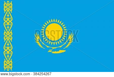 Vector Kazakhstan Flag, Kazakhstan Flag Illustration, Kazakhstan Flag Picture, Kazakhstan Flag Image