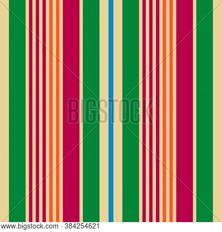 Fabric Retro Color Style Seamless Stripes Pattern. Autumn Winter  Color Trends Fashion Abstract Vect