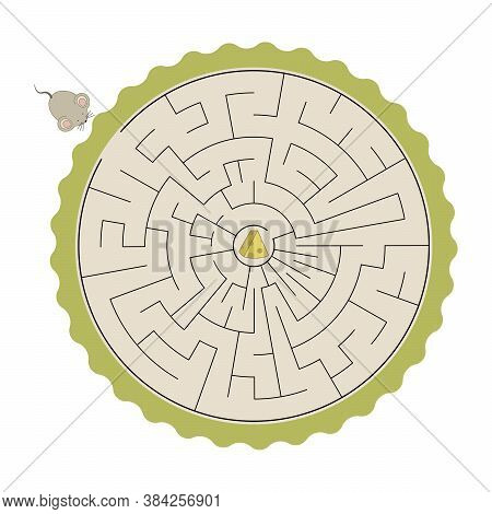 Kids Labyrinth, Help Mouse To Find Cheese