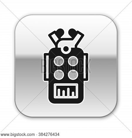Black Microphone Icon Isolated On White Background. On Air Radio Mic Microphone. Speaker Sign. Silve