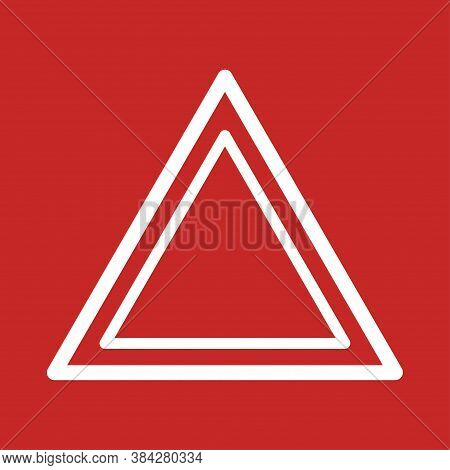 Triangle Carefully In Flat For Site Design. Vector Danger Icon Concept.