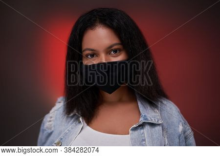 Personal Hygiene And Protection Is Important Thing Today And Blackskinned Girl Which Posing Shows He