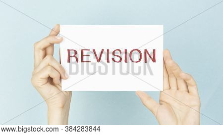 Conceptual Photo Action Of Revising Over Someone Like Auditing Or Accounting Man Holding Colorful Re