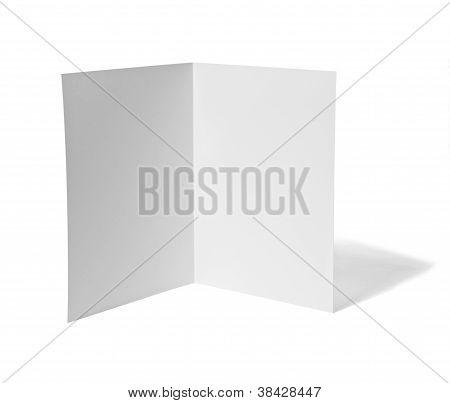 Leaflet White Blank Paper Template