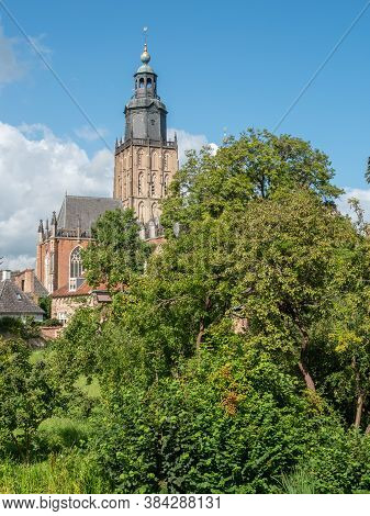 the city of zutphen at the river ijssel