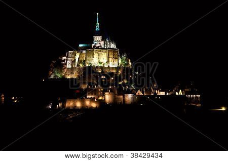 Mont Saint-michel In The Night