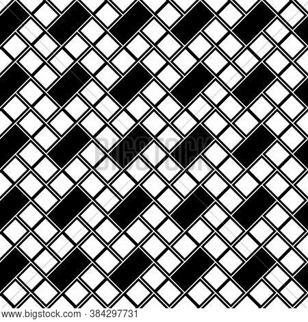Geometric Abstract. Slanted Squares, Rectangles. Checkered Pattern. Seamless Surface Design With Til