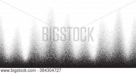 Dotwork Pattern Vector Background. Black Noise Stipple Dots. Sand Grain Effect. Black Dots Grunge Ba
