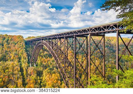 New River Gorge, West Virginia, USA with the bridge in autumn.
