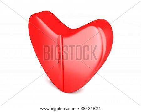 Love Pill. 3D rendered Illustration. Conceptual image. poster