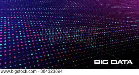 Big Data Visualization. Abstract Background Of A Large Number Of Multicolored And Random Size Data U