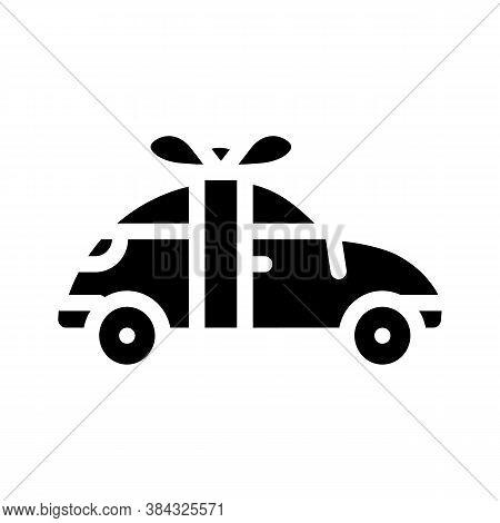 Car Raffle Glyph Icon Vector Isolated Illustration