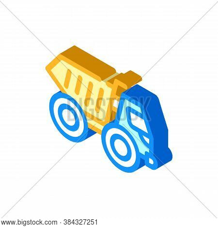 Articulated Dumper Isometric Icon Vector Isolated Illustration
