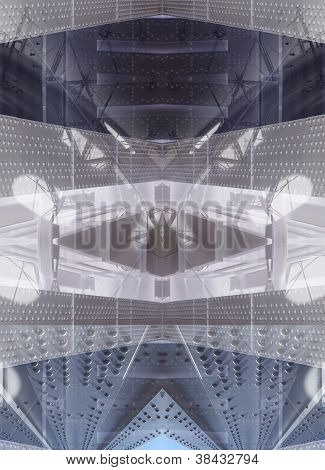 Metallic Abstract Architecture Background