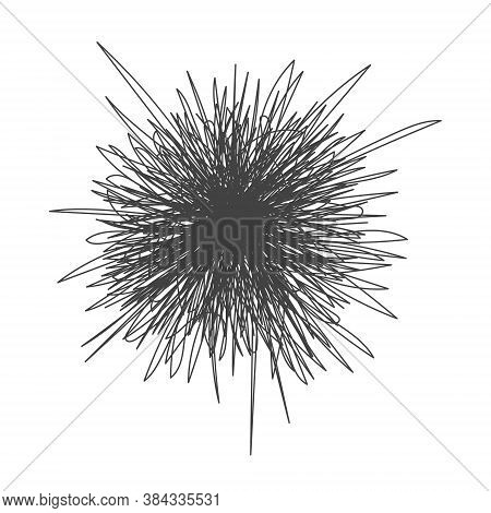 Tangle Chaos Abstract Hand Drawn Messy Scribble Ball Vector Illustration. Random Chaotic Dynamic Scr
