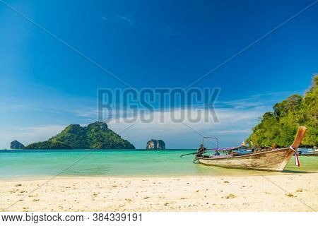 Tropical beach of Poda island Krabi Thailand