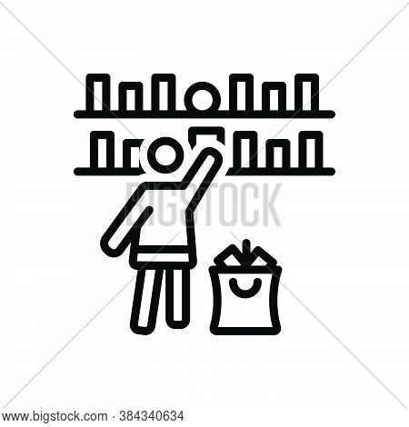 Black Line Icon For Select-goods Select Goods Preference Pick Rack Clientele Shopping-mall Accessori