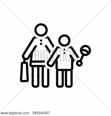 Black Line Icon For Buy-toy Buy Toy Baby Happy Parents Consumable Purchase Shopping Consumer Prospec