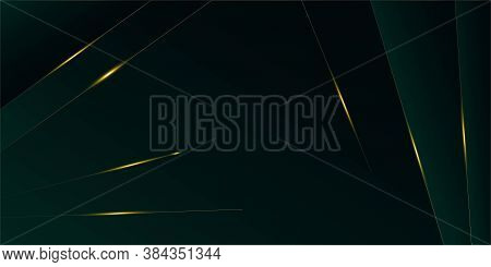 Emerald Luxury Gold Background. New Year Christmas Celebration Poster. Royal Premium Business Banner