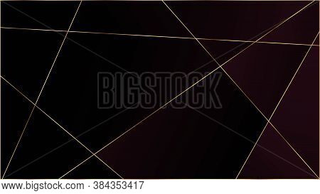 Red Luxury Triangular Texture. Silver Rich Vip Geometric Celebration Background. Gold Lines Polygon