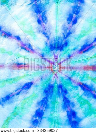 Psychedelic Swirl Textile. Blue And Indigo Hippie Batic. Vibrant Haight San Francisco Swatch.  Freed