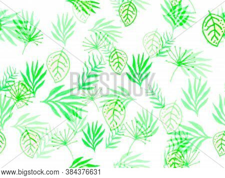 Leaves Seamless Pattern. Tropical Leaves. Seafoam Tropical Leaves Seamless Pattern. Leaf Wallpaper J