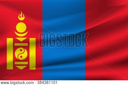 Flag Of Mongolia. Vector. Accurate Dimensions, Element Proportions And Colors