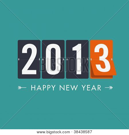 Happy new year 2013 mechanical count style