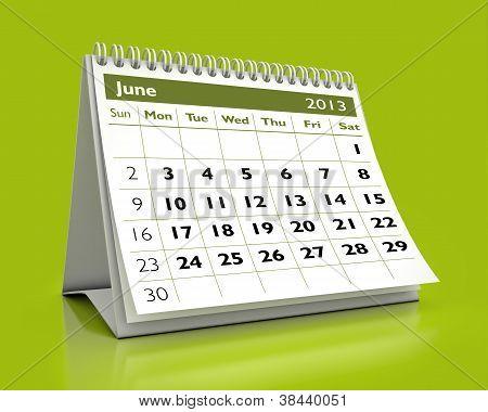 June 2013 Calendar