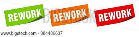 Rework Sticker. Rework Square Isolated Sign. Label