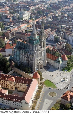 ZAGREB, CROATIA - OCTOBER 29, 2012: Cathedral of the Assumption of the Virgin Mary in Zagreb, Croatia