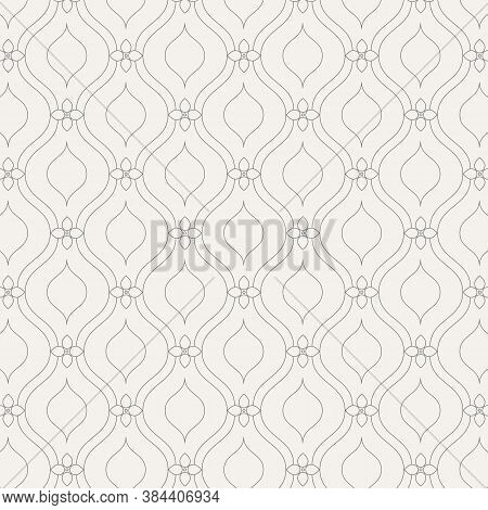 Vector Pattern. Modern Texture. Repeating Abstract Background. Simple Wavy Linear With Abstract Flow
