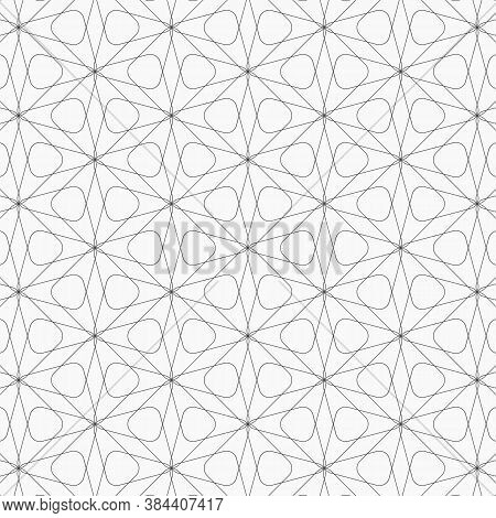 Vector Pattern. Modern Texture. Repeating Abstract Background. Simple Geometric Shape And Abstract F