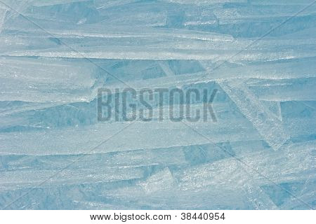 Ice Sticks From Water Of Baikal For Background