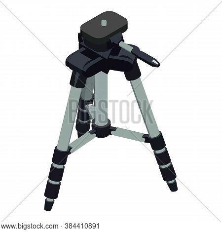Camera Tripod Icon. Isometric Of Camera Tripod Vector Icon For Web Design Isolated On White Backgrou