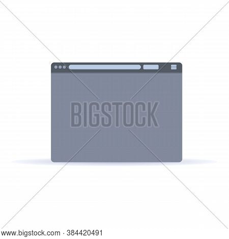 Browser Application Icon. Cartoon Of Browser Application Vector Icon For Web Design Isolated On Whit