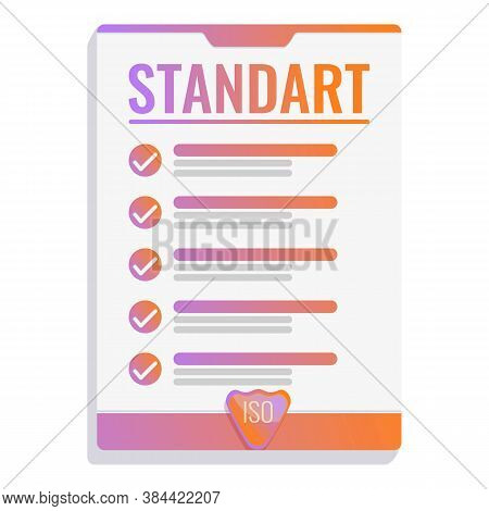 Professional Standard Icon. Cartoon Of Professional Standard Vector Icon For Web Design Isolated On