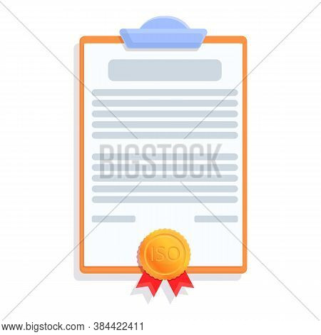 Test Standard Icon. Cartoon Of Test Standard Vector Icon For Web Design Isolated On White Background