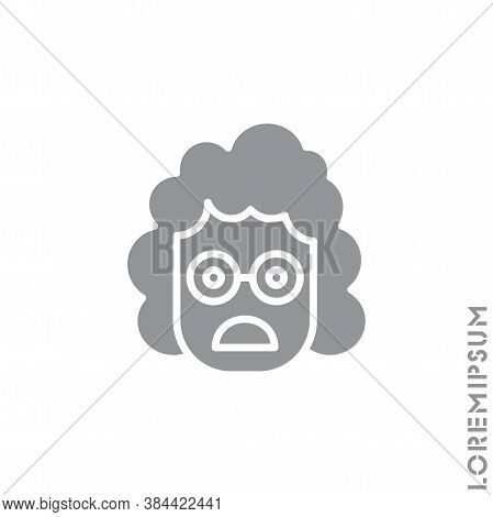 Frowning With Open Mouth Girl, Woman Emoji Vector Icon. Frowning With Open Mouth Emoji Icon, Vector