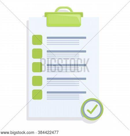 Checklist Standard Icon. Cartoon Of Checklist Standard Vector Icon For Web Design Isolated On White
