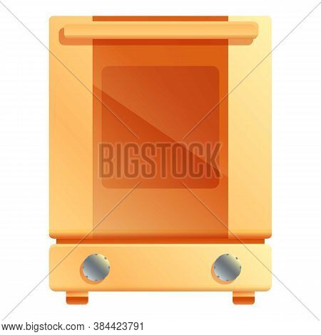 Red Convection Oven Icon. Cartoon Of Red Convection Oven Vector Icon For Web Design Isolated On Whit