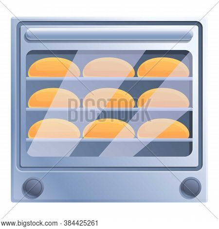 Bread Convection Oven Icon. Cartoon Of Bread Convection Oven Vector Icon For Web Design Isolated On