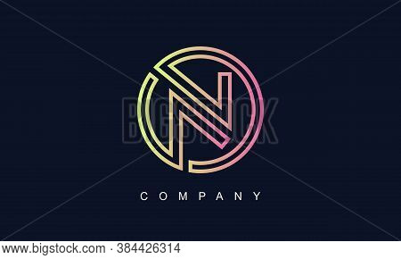Initial Letter N Logo With Creative Circle Monogram Business Typography Vector Template. Creative Ab