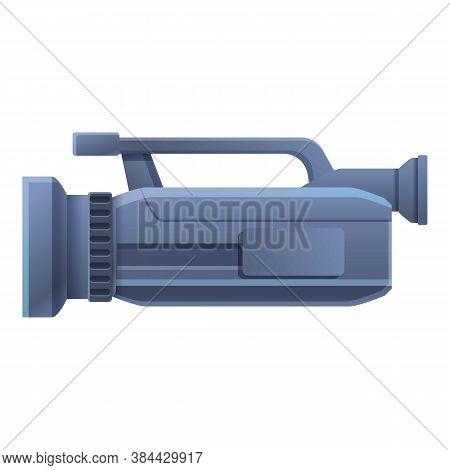 Press Camcorder Icon. Cartoon Of Press Camcorder Vector Icon For Web Design Isolated On White Backgr